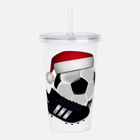 Christmas Soccer Acrylic Double-wall Tumbler