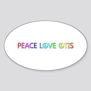 Peace Love Otis Oval Sticker
