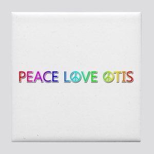 Peace Love Otis Tile Coaster