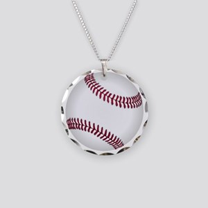 Baseball Game Time Necklace Circle Charm