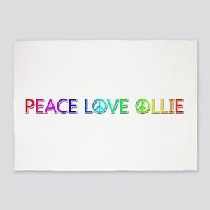 Peace Love Ollie 5'x7' Area Rug