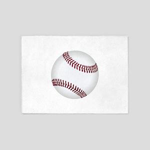 Baseball Game Time 5'x7'Area Rug