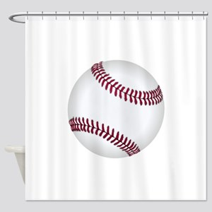Baseball Game Time Shower Curtain