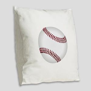 Baseball Game Time Burlap Throw Pillow