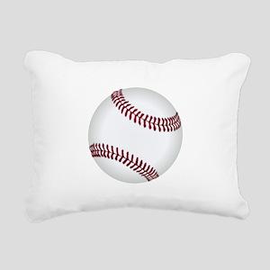 Baseball Game Time Rectangular Canvas Pillow