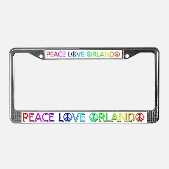 Peace Love Orlando License Plate Frame