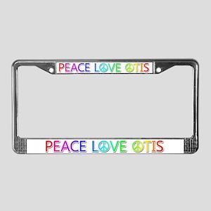 Peace Love Otis License Plate Frame
