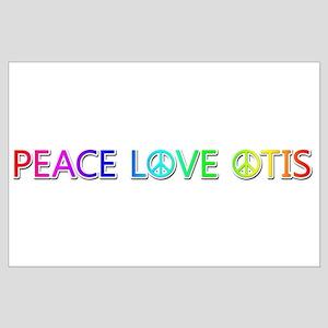 Peace Love Otis Large Poster