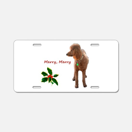 Unique Standard poodle Aluminum License Plate
