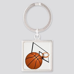 Basketball and Hoop Keychains