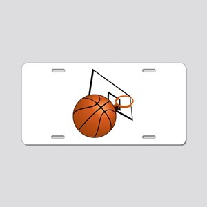Basketball and Hoop Aluminum License Plate
