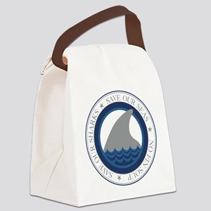 save our sharks Canvas Lunch Bag