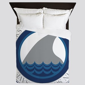 save our sharks Queen Duvet