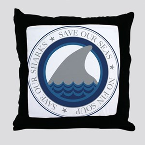 save our sharks Throw Pillow