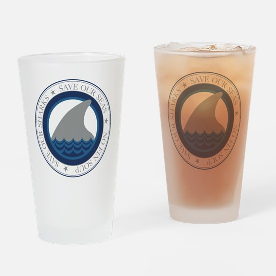 save our sharks Drinking Glass