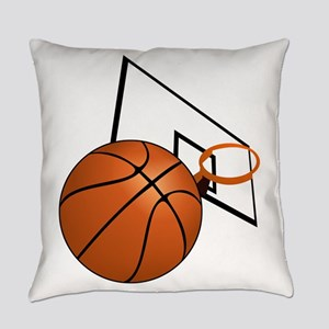Basketball and Hoop Everyday Pillow