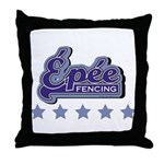 Epee Fencing Throw Pillow