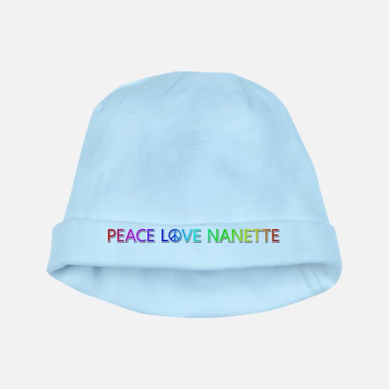 Peace Love Nanette baby hat