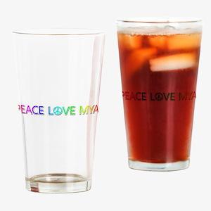 Peace Love Mya Drinking Glass