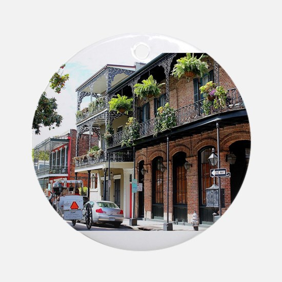 French Quarter Street Round Ornament