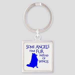 SHELTIE ANGEL Square Keychain