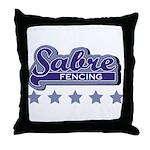 Sabre Fencing Throw Pillow