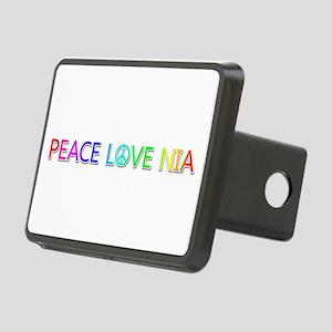 Peace Love Nia Rectangular Hitch Cover