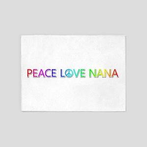 Peace Love Nana 5'x7' Area Rug