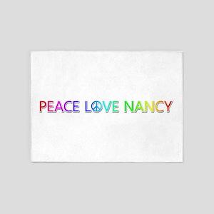 Peace Love Nancy 5'x7' Area Rug