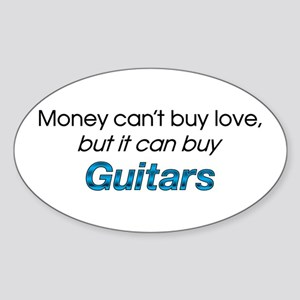 Money&Guitars Oval Sticker