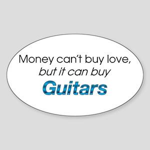 Money&Guitars Oval Sticker