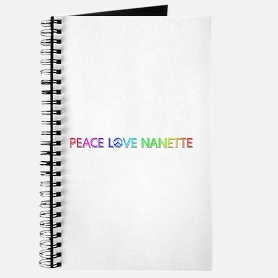 Peace Love Nanette Journal
