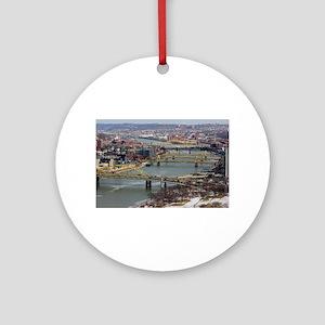 City of Bridges Round Ornament