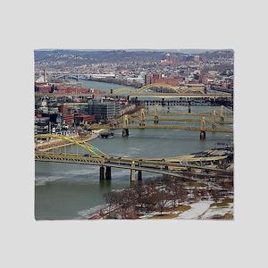 City of Bridges Throw Blanket