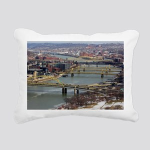 City of Bridges Rectangular Canvas Pillow