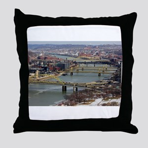 City of Bridges Throw Pillow