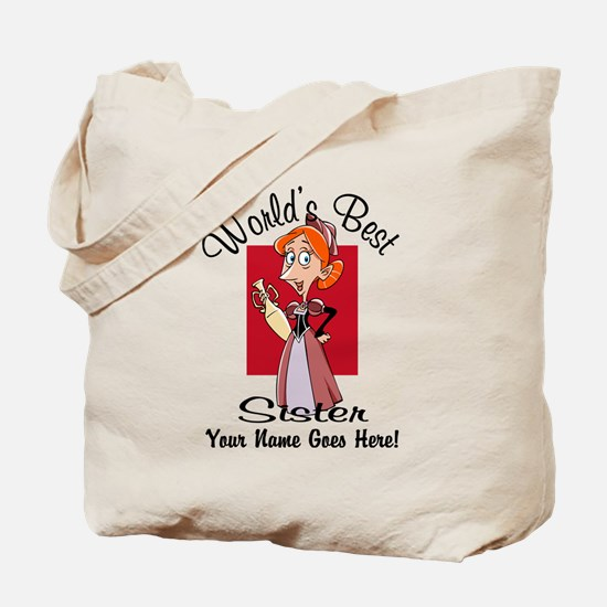 Worlds Best Sister Tote Bag