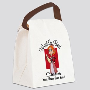 Worlds Best Sister Canvas Lunch Bag