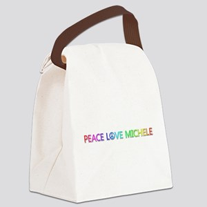 Peace Love Michele Canvas Lunch Bag