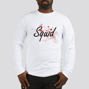 Squid Heart Design Long Sleeve T-Shirt
