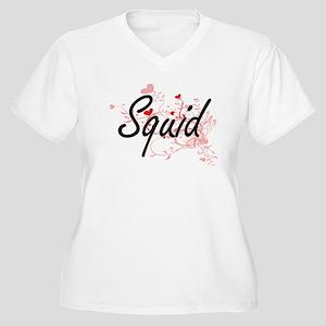 Squid Heart Design Plus Size T-Shirt