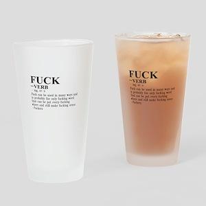 Fuck Def Drinking Glass