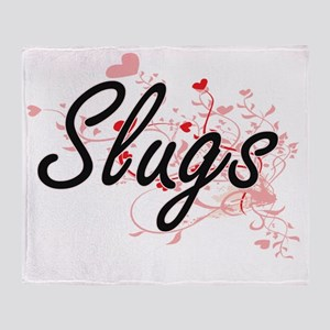 Slugs Heart Design Throw Blanket