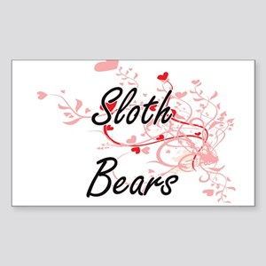 Sloth Bears Heart Design Sticker