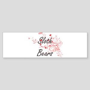 Sloth Bears Heart Design Bumper Sticker
