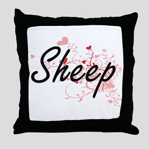 Sheep Heart Design Throw Pillow