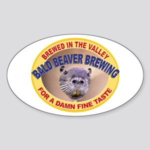 Bald Beaver Brewing Oval Sticker