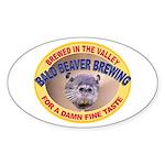 Bald Beaver Brewing Oval Sticker