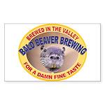 Bald Beaver Brewing Rectangle Sticker