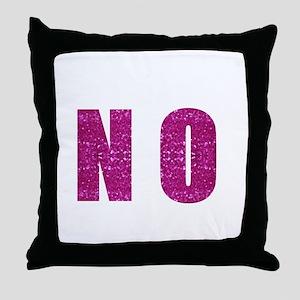 pink sequin no Throw Pillow